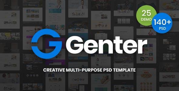 Genter - Creative Multi-Purpose PSD Template