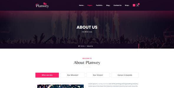Planwey - Event Planner & Celebrations Management HTML Template