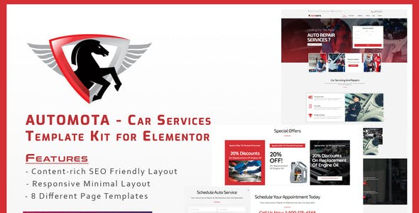 Automota - Car Repair Services Template Kit