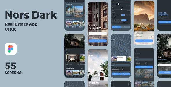 Nors Real Estate App UI Kit - Figma UI Templates