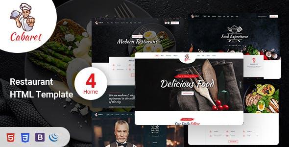 Download Cabaret - Food Restaurant HTML Template