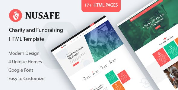Download Nusafe - Charity HTML Template
