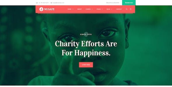 Nusafe - Charity HTML Template