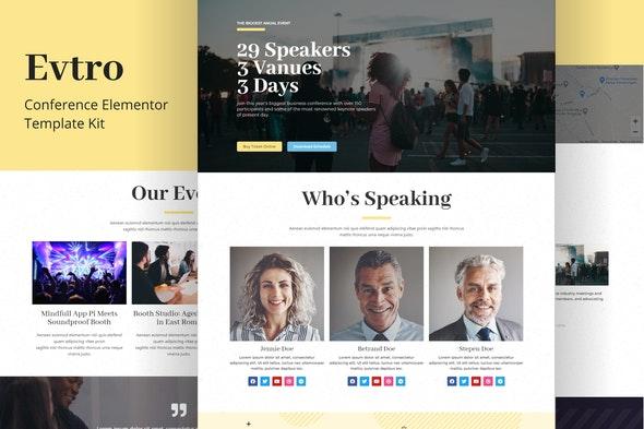 Evtro - Conference Template Kit - Events & Entertainment Elementor