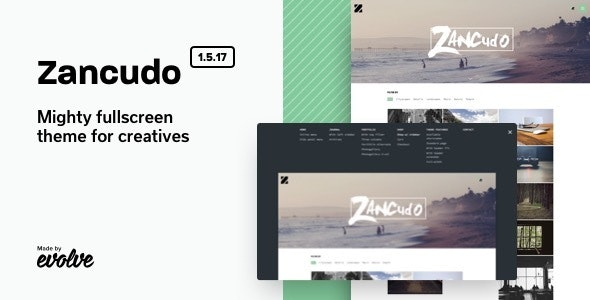 Zancudo - Mighty fullscreen theme for creatives - Photography Creative