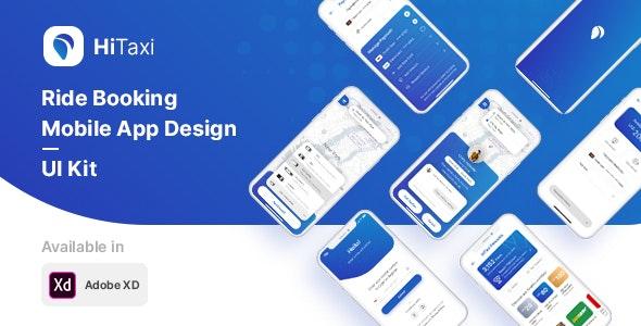 HiTaxi - Adobe XD UI Kit for Mobile App - Adobe XD UI Templates