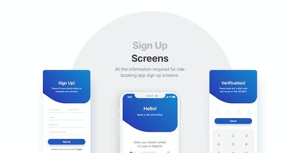 HiTaxi - Adobe XD UI Kit for Mobile App