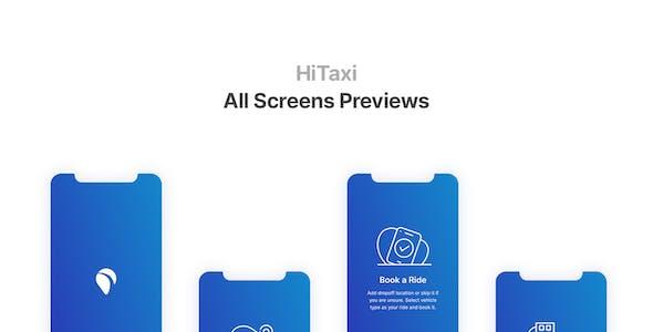 HiTaxi - Figma UI Kit for Mobile App