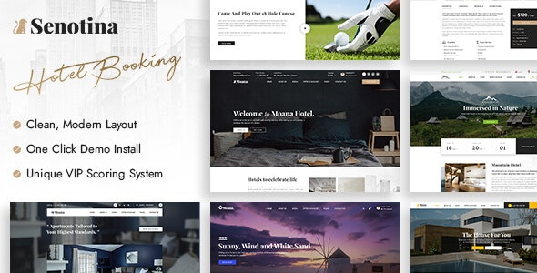 Senotina - Resort and Hotel WordPress Theme - Travel Retail