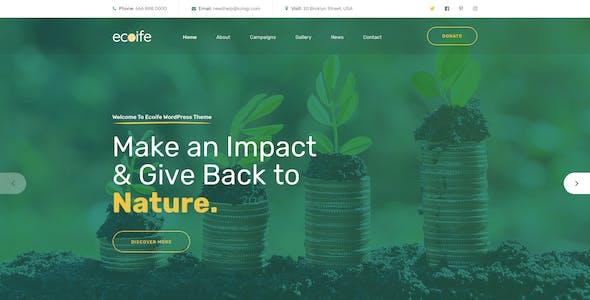 Ecoife - Environment & Ecology PSD Template