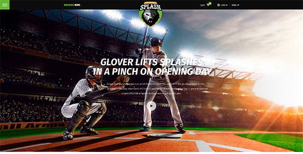 Splash - Sport Club WordPress Theme for Basketball, Football, Hockey
