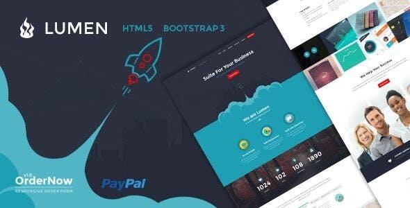 Lumen - Multi-Purpose Bootstrap Template