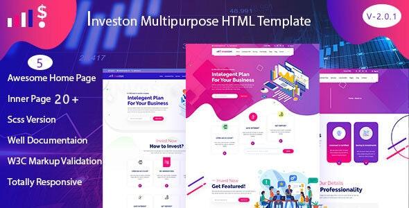 Investon - Multipurpose Business HTML Template - Business Corporate