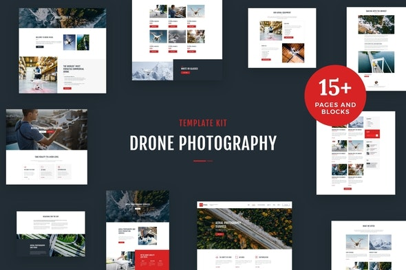 Drone Media - Aerial Photography & Videography Elementor Template Kit - Photography Elementor