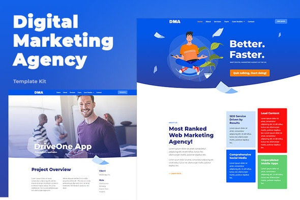DMA - Digital Marketing Agency Template Kit - Business & Services Elementor
