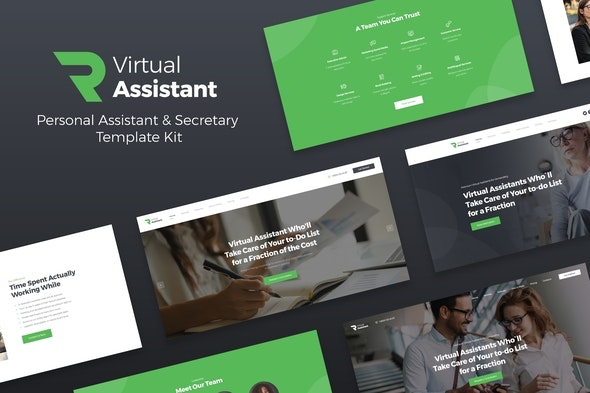 Revirta - Virtual Assistant Business Template Kit - Business & Services Elementor