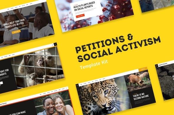 Impacto Patronus - Petitions & Social Activism Template Kit - Non-Profit & Religion Elementor
