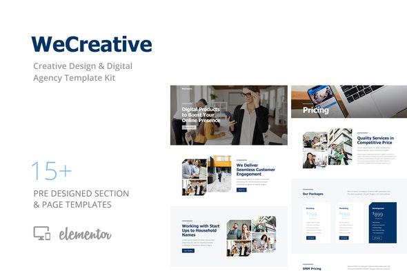WeCreative - Digital Agency Template Kit - Creative & Design Elementor