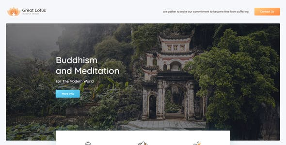 Great Lotus - Buddhist Temple Template Kit