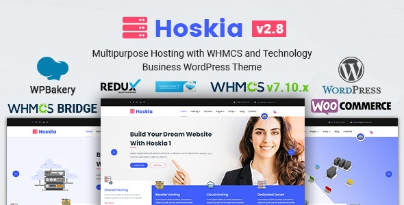 Hoskia | Multipurpose Hosting with WHMCS Theme - Hosting Technology