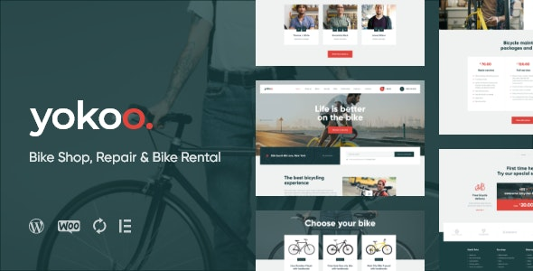 Yokoo - Bike Shop & Bicycle Rental WordPress Theme - WooCommerce eCommerce