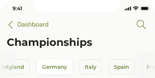 Liga – Soccer mobile app for Figma