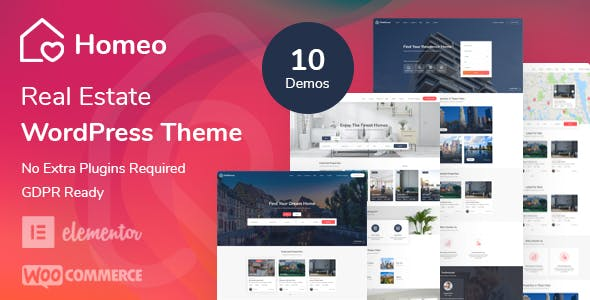 Download Homeo - Real Estate WordPress Theme