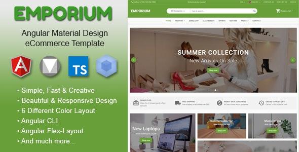 Emporium - Angular 9 Material Design eCommerce Template - Shopping Retail