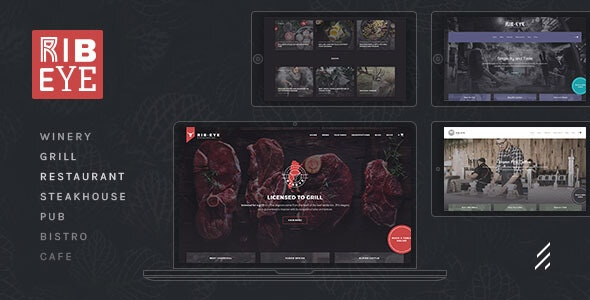 Rib-Eye — Steakhouse WordPress Theme - Restaurants & Cafes Entertainment