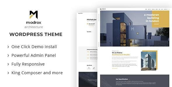 Modrox : Architecture And Interior WordPress Theme - Corporate WordPress