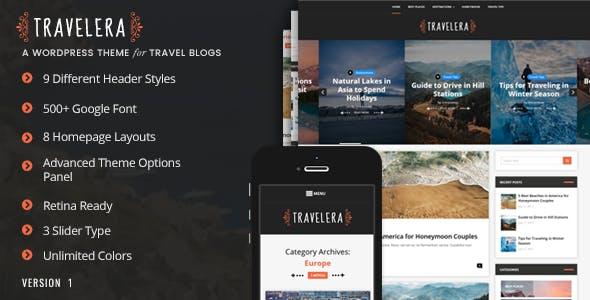 Travelera - WordPress Blog Theme