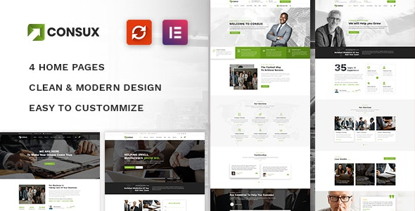 Consux - Business, Consulting WordPress Theme - Business Corporate