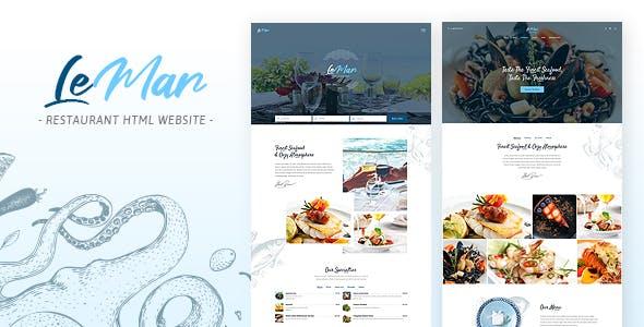 Download LeMar - Finest Seafood Restaurant HTML Template