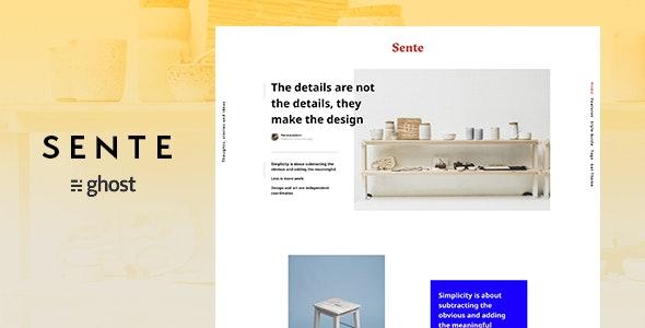 Sente - Magazine Ghost Blog Theme - Ghost Themes Blogging