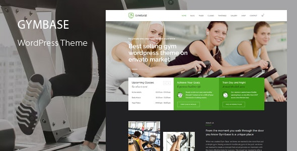 GymBase - Gym Fitness WordPress Theme - Health & Beauty Retail