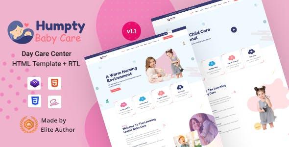 Humpty - Daycare& Kindergarten HTML Template