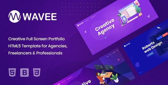 Wavee - Creative Portfolio HTML5 Template by Droit-Themes ...