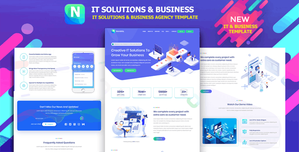 Noratrix - IT Solutions Agency & Business Template - Business Corporate
