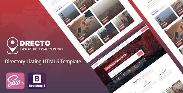 Drecto - Directory Listing HTML5 Template - Business Corporate