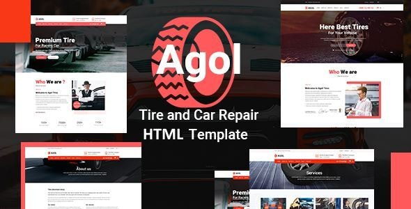AGOL – Tire and Car Repair HTML Template - Business Corporate