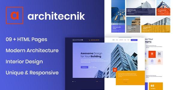 Architecnik - Modern Architecture & Interior Design Agency HTML5 Template - Business Corporate