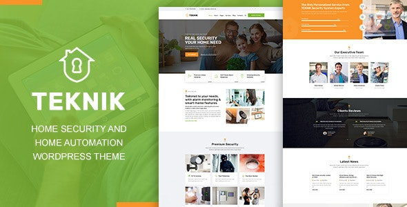 Teknik - Home Security Agency WordPress Theme - Business Corporate