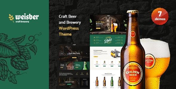Weisber - Craft Beer & Brewery WordPress Theme - Restaurants & Cafes Entertainment
