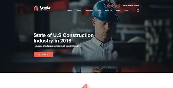 Revoko - Construction XD Template