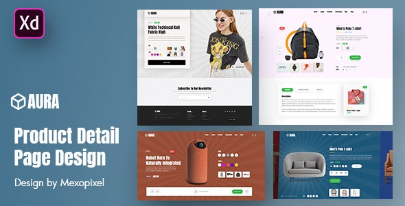 Aura - Product Detail Page Design Layout - Business Corporate