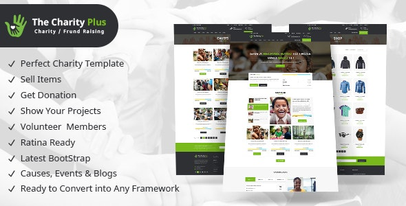 Charity - Plus HTML Template - Charity Nonprofit