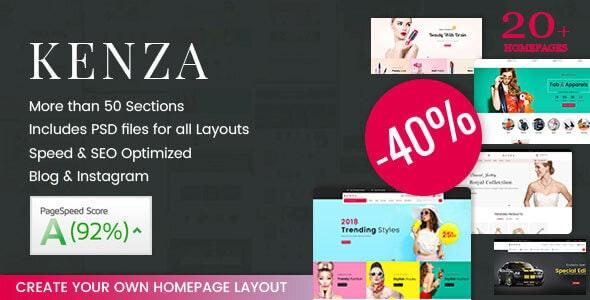 Kenza - Sectioned Multipurpose Shopify Theme - Fashion Shopify