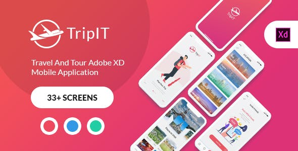 TripIt - Travel Adobe XD Mobile Application