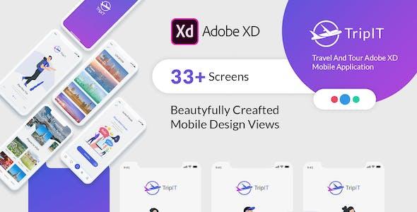 TripIt - Travel Adobe XD Mobile Application