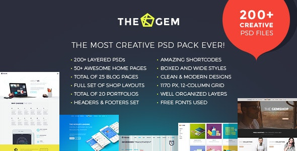TheGem - Creative Multi-Purpose PSD Template - Creative Photoshop